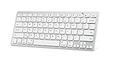 BKELE Wirelees Bluetooth Keyboard for iPad Air 2 / Air, iPad Pro, iPad mini 4 / 3 / 2 / 1, iPad 4 / 3 / 2, Galaxy Tabs ,Windows PC and Other Mobile Devices (White)