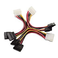 Cable Matters (3 Pack) 4 Pin Molex to Dual SATA Power Y-Cable Adapter- 6 Inches