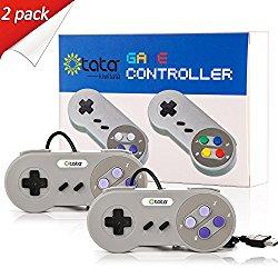 Classic USB Controller, kiwitatá Retro SNES Game Controllers Plug N Play for Raspberry pi PC Mac (Pack of 2)