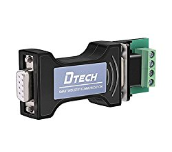 DTECH Port-Powered RS232 to RS485 Converter Adapter for Industrial Long Haul Serial Communication Supports 600W Anti-surge and 15KV Static Protection