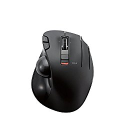 ELECOM M-XT3DRBK Wireless Trackball Mouse, 6-Button with Smooth Tracking Function, Video Gaming Sensor, Black
