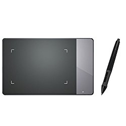Huion 4×2.23 inches USB Art Design Graphics Drawing Tablet Board Digital Pen with Kenting Cleaning Cloth 420