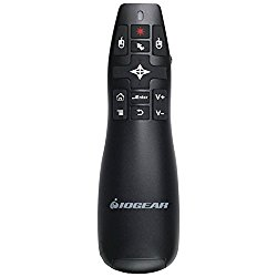 IOGEAR Red Point Pro 2.4GHz Gyroscopic Presentation Mouse with Laser Pointer, GME430R