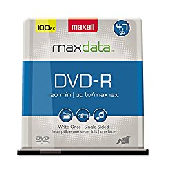 Maxell 4.7GB 16X DVD-R 100pk Spindle