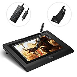 Parblo Coast10 10.1″ Digital Pen Tablet Display Drawing Monitor 10.1 Inch with Cordless and Battery-free Pen+ 4ports USB3.0 Hub+ Glove