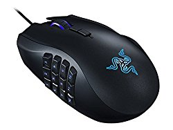Razer Naga Chroma MMO Gaming Mouse – 12 Programmable Thumb Buttons – 16,000 DPI – Wired