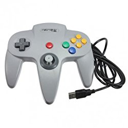 Retrolink N64 Style Classic Controller For PC & MAC USB Gray Color – Gray