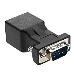 RJ45 to RS232,COOSO DB9 9-Pin Serial Port Male to RJ45 Female Cat5e/6 Ethernet LAN Console Adapter