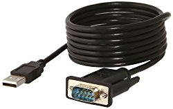 Sabrent USB 2.0 to Serial (9-Pin) DB-9 RS-232 Adapter Cable 6ft Cable [FTDI Chipset] (CB-FTDI)