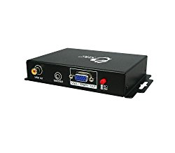 SIIG HDMI to VGA/Component Video Converter with Digital S/PDIF and 3.5mm Stereo Audio, EDID Learning and Integrated Wall Mount