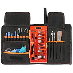 Soucolor 76 in 1 Precision Screwdriver Set, Magnetic Driver Kit, Repair Tool Kits with Portable Box for iPad, iPhone, Tablets, Laptops, PC, Smartphones, Watches, Electronics Disassembly