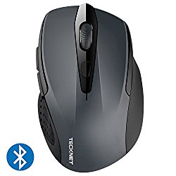 TeckNet 2400DPI Bluetooth Wireless Mouse, 24 Month Battery Life With Battery Indicator, 2400/1500/1000dPi
