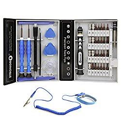 Tool Kit Multipurpose 41-Piece Precision Tool Kit for Android, iPhone, iPad, Tablet, Apple MacBook Pro, Desktop, Laptop, Notebook, Electronics Universal Disassembly Repair Tool Set