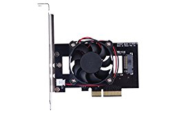 XINY PM961 Intel 600P M.2 NGFF SSD to PCIe x4 Riser card With cooling fan No driver required