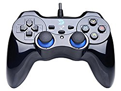 ZD-V+ Vibration-Feedback USB Wired Gamepad Gaming Controller Joystick Supports PC(Windows XP/7/8/10) & PS3 & Android – [Black]