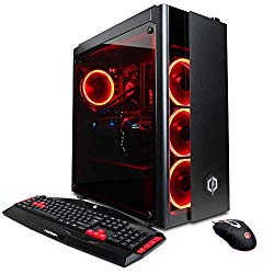 CYBERPOWERPC GXiVR8080A3 Overclockable Gaming PC Desktop (Liquid Cooled i7-8700K 3.7GHz, Z370 Motherboard, 16GB DDR4, NVIDIA GeForce RTX 2080 8GB, 240GB SSD, 1TB HDD, 802.11AC WiFi & Win 10) Black