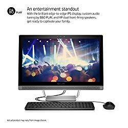HP Premium All in One Desktop 23.8 Inch Full HD (1920×1080), 6th gen Intel Core i3-6100T 3.2Ghz processor, 8GB Ram, 1TB HDD,DVD Burner, WiFi/HDMI/Webcam, Win 10 (Renewed)