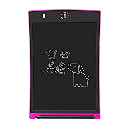 LCD Writing Tablet,Electronic Writing &Drawing Board Doodle Board,Sunany 8.5″ Handwriting Paper Drawing Tablet Gift for Kids and Adults at Home,School and Office (Pink)