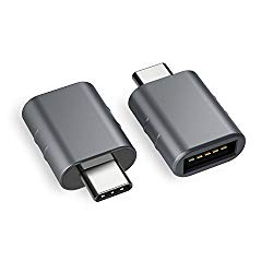 Syntech USB C to USB Adapter [2-Pack], Thunderbolt 3 to USB 3.0 Adapter Compatible MacBook Pro 2018/2017, MacBook Air 2018, Pixel 3, Dell XPS, and More Type-C Devices