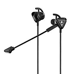 Turtle Beach Battle Buds In-Ear Gaming Headset for Mobile Gaming, Nintendo Switch, Xbox One, PS4, Pro, & PC – Black/Silver – Nintendo Switch