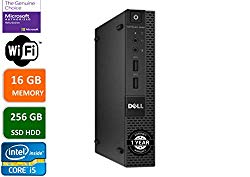 Dell Optiplex 9020 Ultra Small Tiny Desktop Micro Computer PC (Intel Core i5-4570S, 16GB Ram, 256GB Solid State SSD, WiFi, Bluetooth, HDMI Win 10 Pro (Renewed)