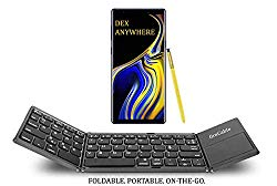 fireCable Full Size Foldable Pocket Keyboard and Touchpad Mouse (for DeX Station Galaxy Note 9 & 8 S9 etc.)