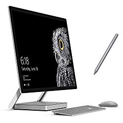 Microsoft Surface Studio All-in-one 28″ 4500×3000 Touchscreen, i5, 8GB RAM, 64GB SSD+1TB HDD AIO PC, 4 Cores up to 3.50 GHz CPU, GTX 965M, Webcam, Surface Pen, Keyboad, Mouse, Win 10 Pro (Renewed)