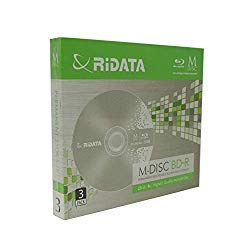 3 Pack Ridata M-Disc BD-R 25GB 4X HD 1000 Year Permanent Data Archival/Backup Blank Media Recordable Disc with Jewel Case