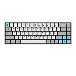 Akko 3068 Mini Wireless Wired Mechanical Gaming Keyboard Cheery MX Switch PBT Keycaps (Cherry MX Blue)