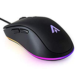 Anker Gaming Mouse with 6Dpi Levels (800, 1600, 2400, 3200, 4800, and 6400), 1000 Hz Polling Rate, Programmable Buttons, Ergonomic USB Computer Mouse, RGB Gamer Desktop Laptop PC Gaming Mouse