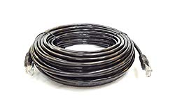 Cable Sourcing – 100ft (30m) CAT5e cable, EXTERNAL (outdoor use) & INTERNAL, 100% SOLID COPPER, Ethernet, CCTV,, 10/100/1000mb, RJ45 Plugs, Networking & Patch Cable, DATA/LAN, BLACK