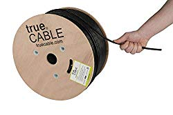 Cat6 Outdoor, 1000ft, Waterproof, Direct Burial Rated CMX, 23AWG Solid Bare Copper, 550MHz, ETL Listed, Unshielded UTP, Bulk Ethernet Cable, trueCABLE