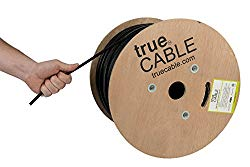 Cat6 Outdoor, Shielded FTP, 1000ft, Waterproof, Direct Burial Rated CMX, 23AWG Solid Bare Copper, 550MHz, ETL Listed, Bulk Ethernet Cable, trueCABLE