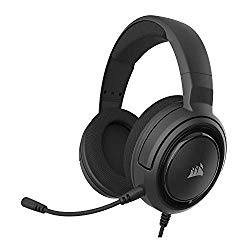 Corsair HS35 – Stereo Gaming Headset – Memory Foam Earcups – Headphones Work with PC, Mac, Xbox One, PS4, Switch, iOS and Android – Carbon, 2.6