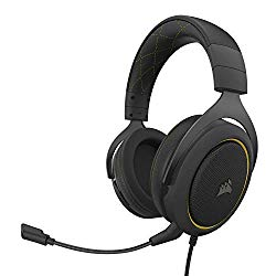 Corsair HS60 Pro – 7.1 Virtual Surround Sound PC Gaming Headset w/USB DAC – Discord Certified Headphones – Compatible with Xbox One, PS4, and Nintendo Switch – Yellow