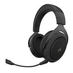 Corsair HS70 Pro Wireless Gaming Headset – 7.1 Surround Sound Headphones for PC – Discord Certified – 50mm Drivers – Carbon