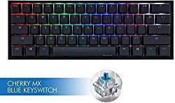 Ducky One 2 Mini RGB LED 60% Double Shot PBT Mechanical Keyboard (Cherry MX Blue)