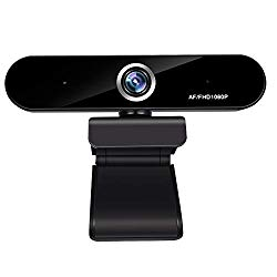 Full 1080P Webcam,  Auto Focus Computer Camera, Face Cam with Dual Microphone for PC, Laptops and Desktop,90 Degree Extended View
