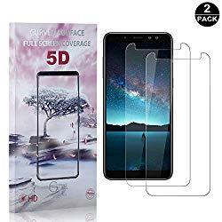 Galaxy A8 2018 Screen Protector Tempered Glass, Bear Village Premium Screen Protector, 9H Scratch Resistant Screen Protector Film for Samsung Galaxy A8 2018-2 Pack