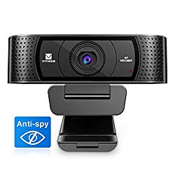 HD Webcam 1080P with Microphone & Cover Slide, Vitade 928A Pro USB Computer Web Camera Video Cam for Streaming Gaming Conferencing Mac Windows PC Laptop Desktop Xbox Skype OBS Twitch YouTube Xsplit