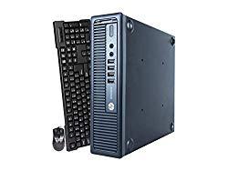 HP Elite 800G1 Ultra Small Desktop PC, Intel Quad Core i5-4570s Processor, 16GB RAM, 512GB Solid State Drive, Windows 10 Pro, DVD, HDMI, Bluetooth, Keyboard, Mouse, WiFi (Renewed)