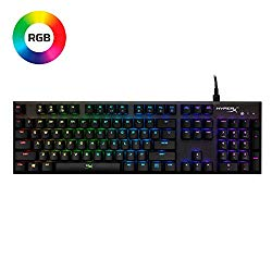 HyperX Alloy FPS RGB – Mechanical Gaming Keyboard – Controlled Light & Macro Customization – Silver Speed Switches – RGB LED backlit (HX-KB1SS2-US)
