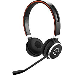 Jabra Evolve 65 UC Wireless Headset, Stereo – Includes Link 370 USB Adapter – Bluetooth Headset with Industry-Leading Wireless Performance, Passive Noise Cancellation, All Day Battery