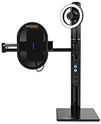 Marantz Professional Turret | USB-C Broadcast Video System with Full HD webcam (H.264 video compression), USB condenser mic (48kHz/16-bit) and pop filter, Dimmable LED light ring & internal USB hub