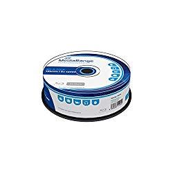 MEDIARANGE BD-R 25GB 6X Writing Speed, 25 Cakebox