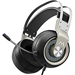 Mpow EG3 Pro Gaming Headset with 3D Surround Sound, PS4 Xbox One Headset with Noise Cancelling Mic, Gaming Chat Headset, Over-Ear Gaming Headphones for PC, Xbox 1, PS4, Nintendo Switch