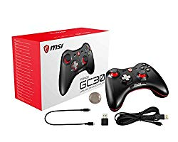 MSI Gaming Wireless Rechargeable Dual Vibration Gaming Controller for PC and Android (FORCE GC30)