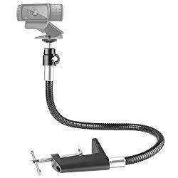 Neewer 25 inches/63.5 Centimeters Flexible Jaw Long Arm Swivel Clamp Clip Mount Holder Stand, Gooseneck Mount for Logitech Webcam Brio 4K C925e C922x C922 C930e C930 C920 C615