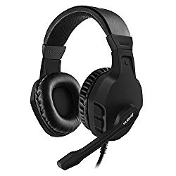 NUBWO U3 3.5mm Gaming Headset for PC, PS4, Laptop, Xbox One, Mac, iPad, Nintendo Switch Games, Computer Game Gamer Over Ear Flexible Microphone Volume Control with Mic – Black