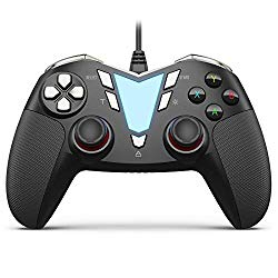 PC Steam Game Controller, IFYOO ONE Pro Wired USB Gaming Gamepad Joystick Compatible with Computer/Laptop(Windows 10/8/7/XP), Android(Phone/Tablet/TV/Box), PS3 – [Black&Silver]